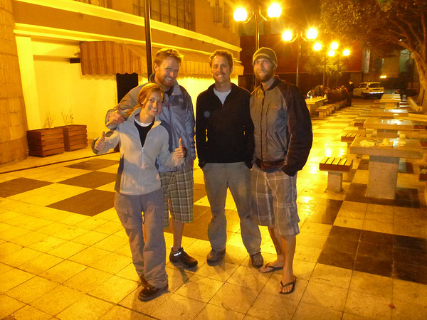 Anne, Will, Jordan and Mike in Lima