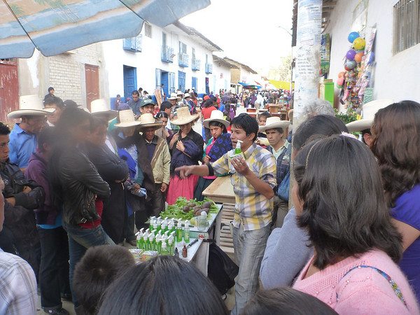 At the local market in Celendin, Peru
