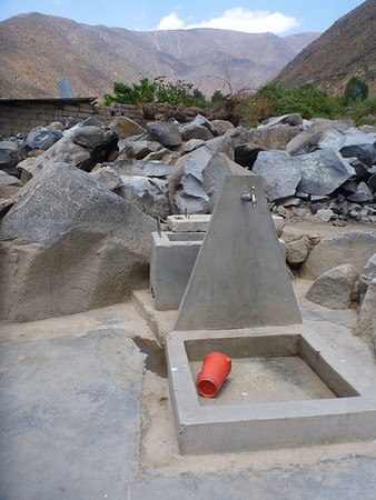 One of the household water units built through the clean water project in Llacamate, Peru