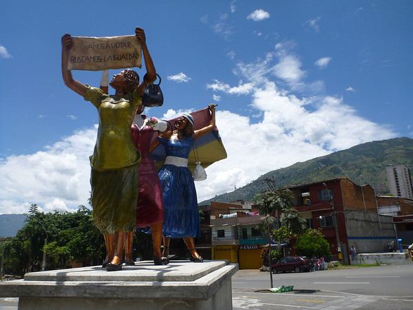 Statue for women's rights in Medellin, Colombia