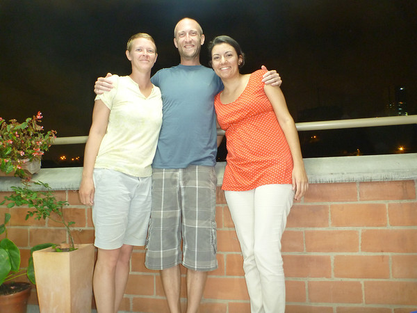 With our couchsurfing host, Diana, in Sabaneta, Colombia