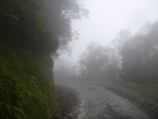 gettin foggy on the Trampoline of Death road between Mocoa and Pasto