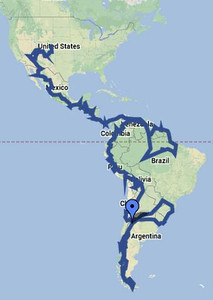 Our route map.
